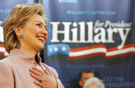 Hillary Clinton looks to be the favourite to finish first in 2016