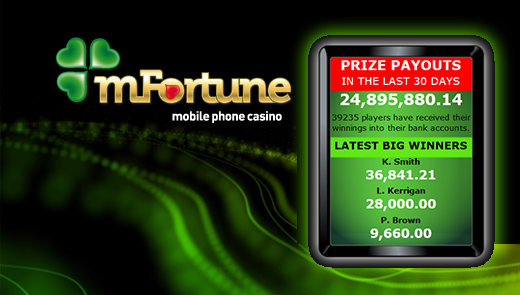 mFortune Gives Away £23 million in One Month