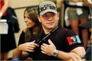 Matt Damon playing poker